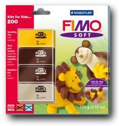 FIMO Soft Kids égethető gyurmakészlet - állatkert 4x25g (8024-39)