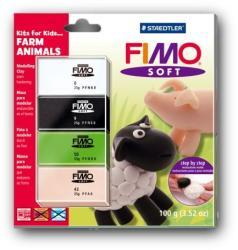 FIMO Soft Kids égethető gyurmakészlet - háziállat 4x25g (8024-33)