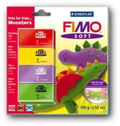 FIMO Soft Kids égethető gyurmakészlet - szörnyes 4x25g (8024-32)