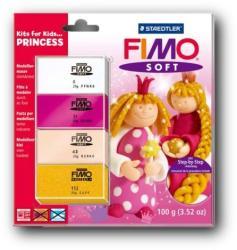 FIMO Soft Kids égethető gyurmakészlet - hercegnő 4x25g (8024-43)