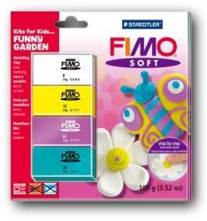 FIMO Soft Kids égethető gyurmakészlet - vidám kert 4x25g (8024-40)