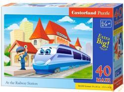 Castorland Vasútállomás 40 db-os (B-040216)
