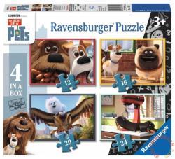 Ravensburger A kis kedvencek titkos élete - 4 az 1-ben puzzle 12, 16, 20, 24 db-os (07139)