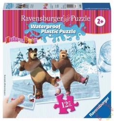 Ravensburger Mása és a medve - Korcsolyázás vízálló puzzle 12 db-os (05606)