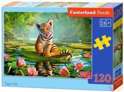 Castorland Tigris és liliom 120 db-os (B-13296)