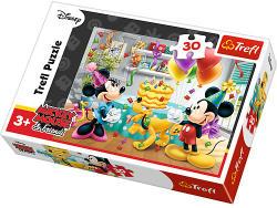 Trefl Mickey Mouse és barátai - Születésnapi torta 30 db-os (18211)