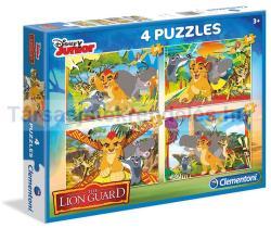Clementoni Az oroszlán őrség puzzle 2x20 és 2x60 db-os (07608)