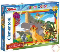Clementoni Az oroszlán őrség - Bátor őrzők - Szuper színes puzzle 104 db-os (27969)