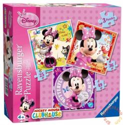 Ravensburger Minnie Mouse 3 az 1-ben puzzle - 25, 36, 49 db-os (07244)