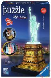 Ravensburger Night Edition - Szabadság szobor 3D puzzle 108 db-os (12596)