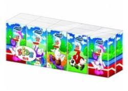 Harmony Kids papírzsebkendő 3 rétegű 10 x 10db