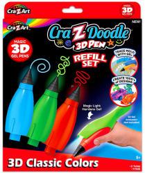 CRA-Z-ART Cra-Z-Doodle 3D toll utántöltő készlet (14597)
