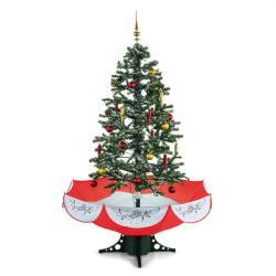 oneConcept Everwhite karácsonyfa 180cm - hóhullás hatás, LED, piros