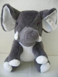 Plüss ülő elefánt 39cm