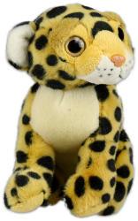 Ülő leopárd plüssfigura - 18cm