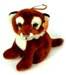 Ülő tigris plüssfigura - 18cm