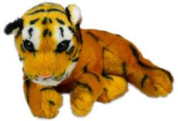 Fekvő tigris plüssfigura - 20cm