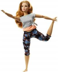 Mattel Barbie - Hajlékony jógababa vörös hajjal