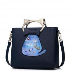 JUST STAR Csini cicás sötétkék táska - Cat