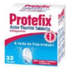 Protefix Aktív műfogsortisztító tabletta 66db