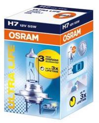 OSRAM Bec auto halogen pentru far Osram Ultra Life H7 55W 12V cutie