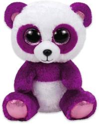 TY Inc Boom Boom panda, lila-fehér plüssfigura - 15cm (MCEE-TY37207)