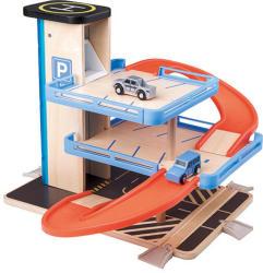 Woodyland Játék parkolóház, garázs - favonat kiegészítő