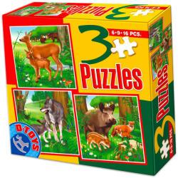 D-Toys Erdei állatok 3 az 1-ben puzzle (D-TOYS-60150)