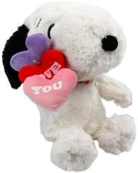 Snoopy plüss kutya, szivecskékkel - 27cm