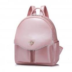 NUCELLE Rózsaszín gyöngyös hátitáska - Patricia