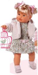 Llorens Llorona szőke síró baba virágos ruhában - 48 cm