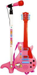 Reig Hello Kitty 6 húros gitár állványos mikrofonnal - rózsaszín