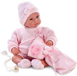 Llorens Síró újszülött lány baba takaróval - 36cm
