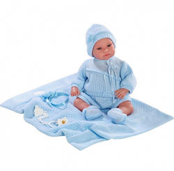 Llorens Síró újszülött fiú baba takaróval - 36 cm