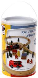 Woodyland Дървено влакче с релси осмица (91121)