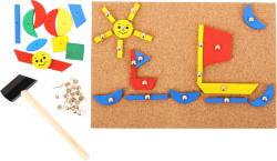Bigjigs Toys Set de creatie - Forme din lemn