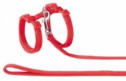 Nobby - ГЕРМАНИЯ / germany Нагръдник с повод за котка - изкуствена лента червен (valenger 72218-01 Нагръдник с повод за котка - червен)