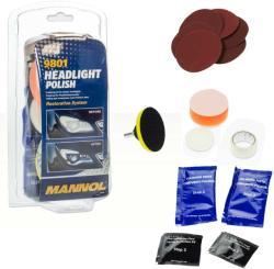 MANNOL Headlight Polish Set - fényszóró polírozó készlet 40g+3ml (9801)