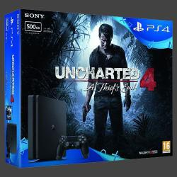 Sony PlayStation 4 Slim 500GB (PS4 Slim 500GB) + Uncharted 4 A Thief's End
