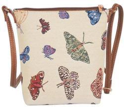 Signare Sling gobelin női oldaltáska Butterfly