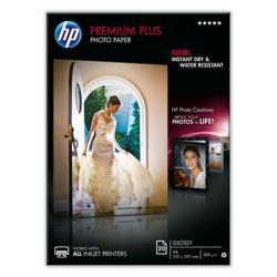 HP CR672A Fotópapír, tintasugaras, A4, 300 g, fényes, HP (20csom/db) (LHPCR672A)