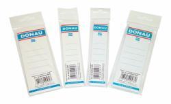 DONAU Cserecímke, iratrendezőhöz, öntapadó, 54x153 mm, DONAU, fehér (20db/csom) (D8375)