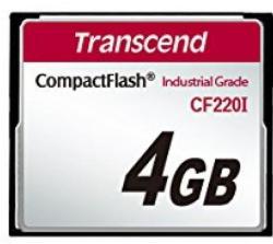 Transcend CompactFlash Industrial 4GB UDMA 5 TS4GCF220I