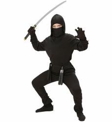... Widmann Fekete ninja jelmez - 158cm-es méret (02648) 1669a65b36