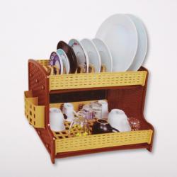Emeletes rattan hatású műanyag edényszárító