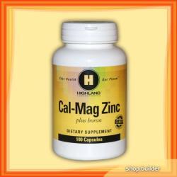 Highland Laboratories Cal-Mag Zinc + Boron (100 caps. )