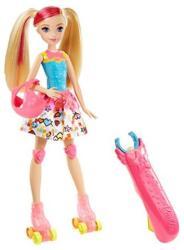 Mattel Barbie - Videojáték kaland - görkoris Barbie baba (DTW17)