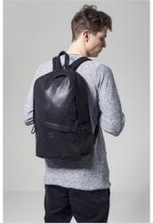 Urban Classics Perforated Leather Imitation Backpack black