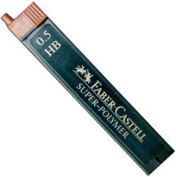 Faber-Castell Mine creion mecanic hi-polymer 0, 5mm, 12 buc/set, FABER-CASTELL