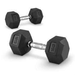 Capital Sports Hexbell 15, 15kg, két kézi súlyzó (dumbbell) (PL-8380-8380)